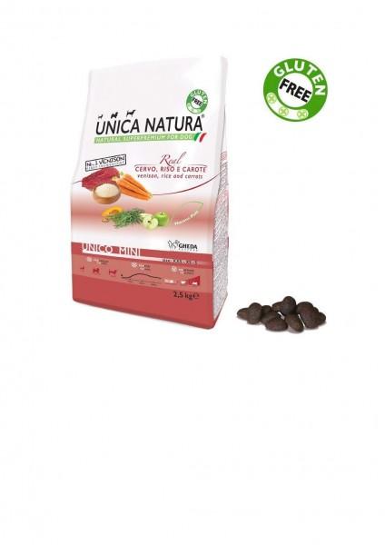 Unica Natura - Hirsch, Reis und Karotten - Dog - Mini
