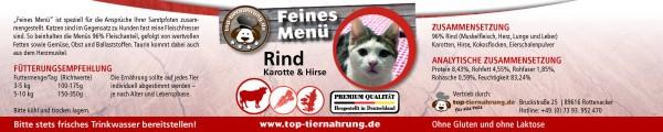 Rind mit Karotte Cat 200g