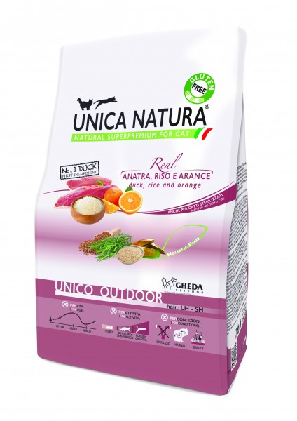 Unica Natura - Ente (Anatra), Reis und Orange outdoor - Cat MHD