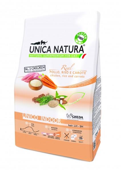 Unica Natura - Huhn (Pollo), Reis und Karotten indoor - Cat