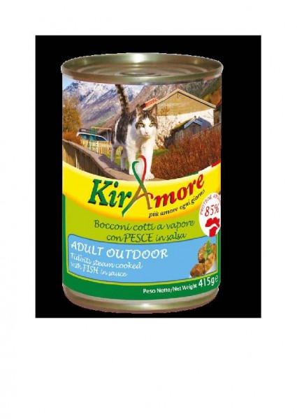 KirAmore outdoor Fisch mit Soße - Cat - 415g